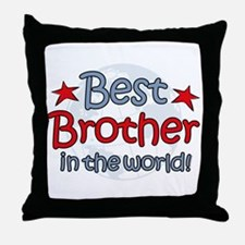 Best Brother Globe Throw Pillow
