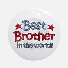 Best Brother Globe Ornament (Round)