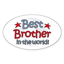 Best Brother Globe Oval Decal