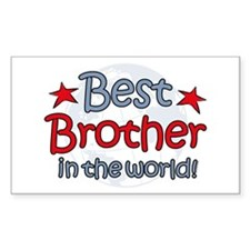 Best Brother Globe Rectangle Decal