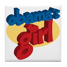 Obama's Girl Support President Barack Tile Coaster