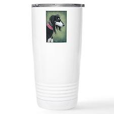 Saluki (Black and Silver) Travel Mug