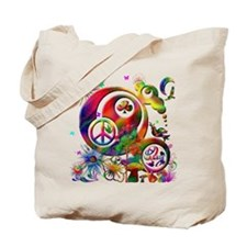 Lucky Peace Sign Collage Tote Bag