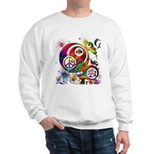 Lucky Peace Sign Collage Sweatshirt