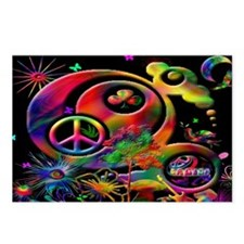 Lucky Peace Sign Collage Postcards (Package of 8)