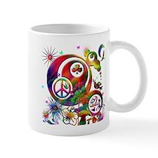 Lucky Peace Sign Collage Mug