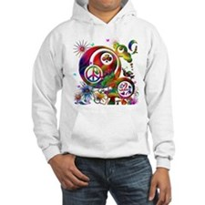 Lucky Peace Sign Collage Hoodie