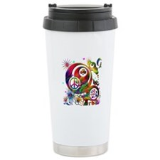 Lucky Peace Sign Collage Travel Mug