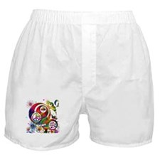 Lucky Peace Sign Collage Boxer Shorts