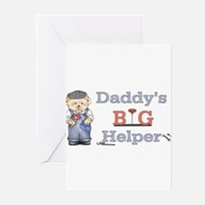 Plumber- Daddys Big Helper Be Greeting Cards (Pk o