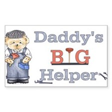 Plumber- Daddys Big Helper Be Rectangle Decal