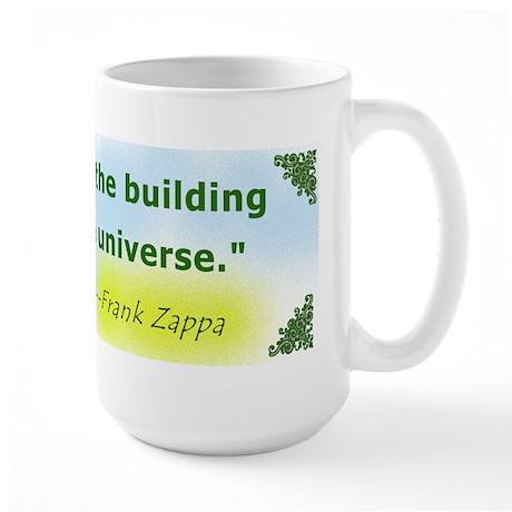 Frank Zappa Stupidity Quote Large Mug