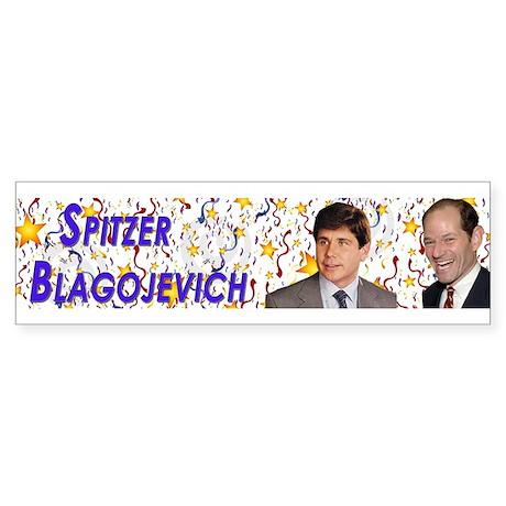 Spitzer Blagojevich Bumper Sticker
