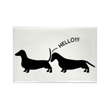 Cute Dog sayings Rectangle Magnet