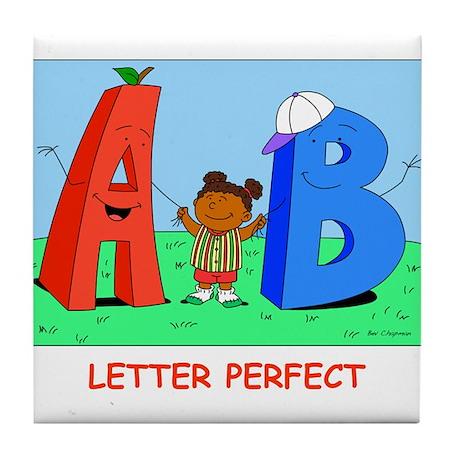 Keesha and letters Tile Coaster