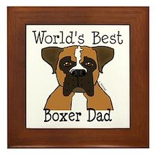 World's Best Boxer Dad Framed Tile
