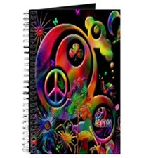 Lucky Peace Sign Collage Journal