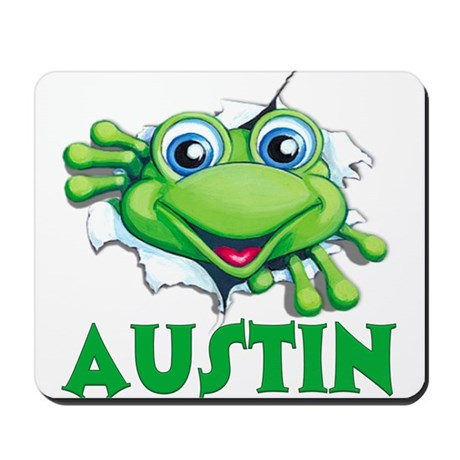 Austin Frog Tearing Out Mousepad