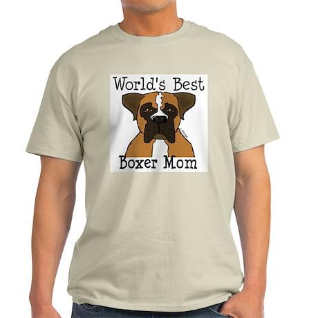 World's Best Boxer Mom Light T-Shirt