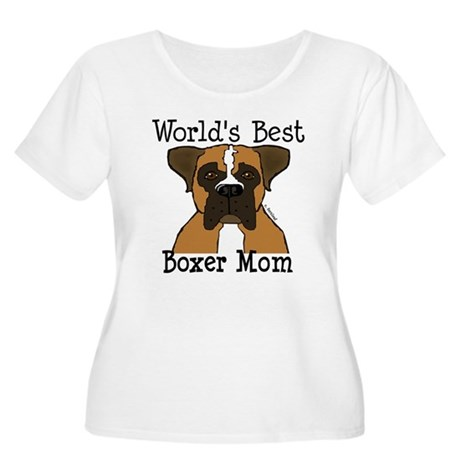 World's Best Boxer Mom Women's Plus Size Scoop Nec