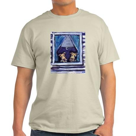 Irish Terrier Window Ash Grey T-Shirt