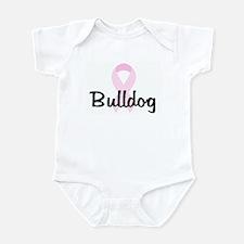 Bulldog pink ribbon Infant Bodysuit