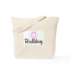 Bulldog pink ribbon Tote Bag