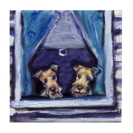 Irish Terrier Window Tile Coaster