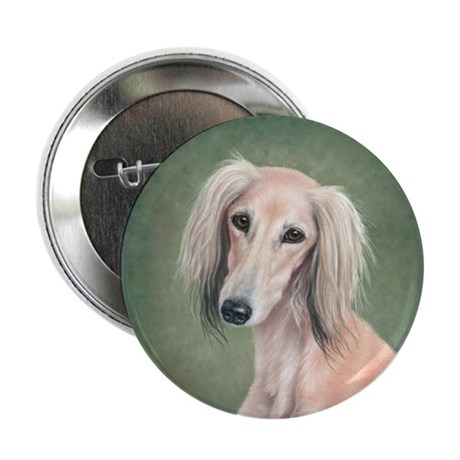 "Saluki (Fawn) 2.25"" Button (10 pack)"