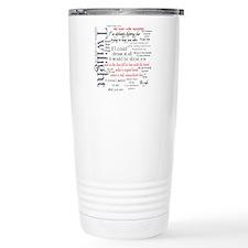 Twilight Quote Block Ceramic Travel Mug
