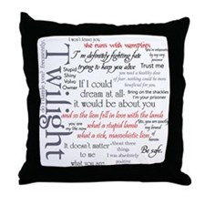Twilight Quote Block Throw Pillow