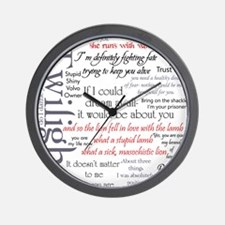 Twilight Quote Block Wall Clock