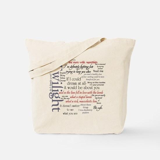 Twilight Quote Block Tote Bag