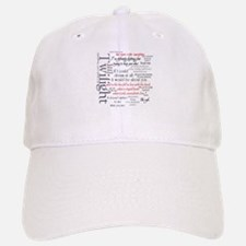 Twilight Quote Block Baseball Baseball Cap