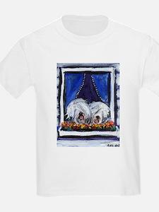 OLD ENGLISH SHEEPDOG WINDOW Kids T-Shirt