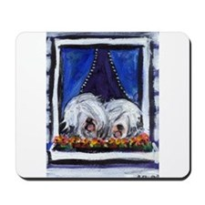 OLD ENGLISH SHEEPDOG WINDOW Mousepad
