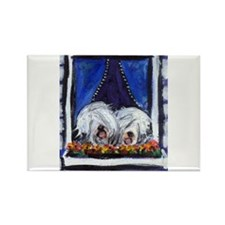 OLD ENGLISH SHEEPDOG WINDOW Rectangle Magnet (10 p