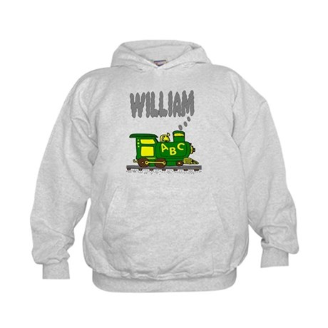 Adorable Train with William in Smoke Kids Hoodie