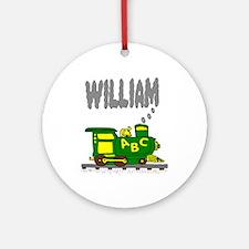 Adorable Train with William in Smoke Ornament (Rou