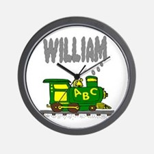Adorable Train with William in Smoke Wall Clock