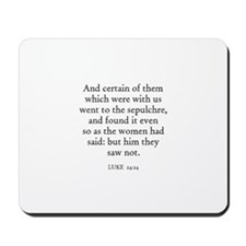 LUKE  24:24 Mousepad
