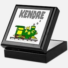 Kendre Green Yellow Train Keepsake Box