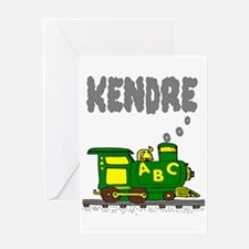 Kendre Green Yellow Train Greeting Card