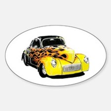 classic cars Oval Decal