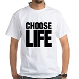 Choose life Mens White T-shirts