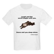 Snoring Chocolate Labrador Kids T-Shirt