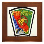 Bell-Cudahy Police Framed Tile