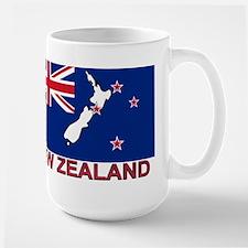 New Zealand Flag (labeled) Large Mug