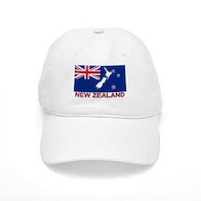 New Zealand Flag (labeled) Cap