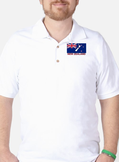 New Zealand Flag (labeled) Golf Shirt